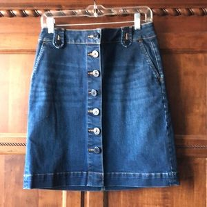 NWOT Talbot's petite Denim jean skirt